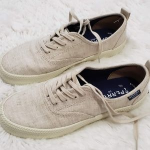 Sperry Topsider Canvas Sneakers Size 6